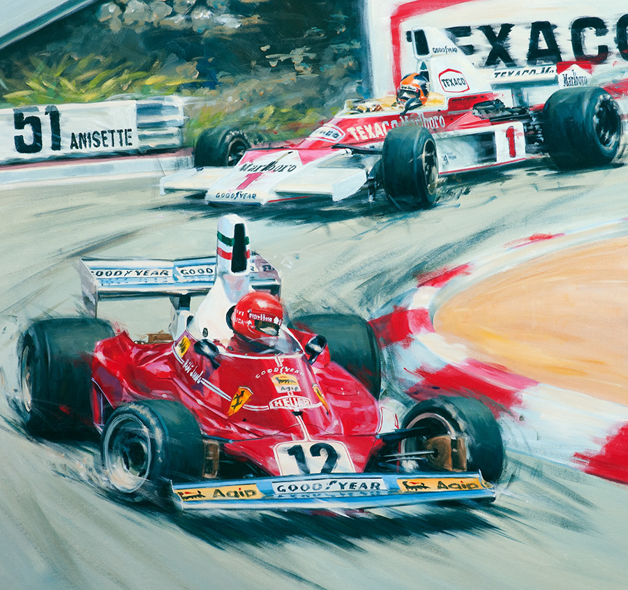 Monaco 1975 - Acryl auf Leinwand/Acrylic on canvas - Größe/size 85/80cm - Auftrag/commission