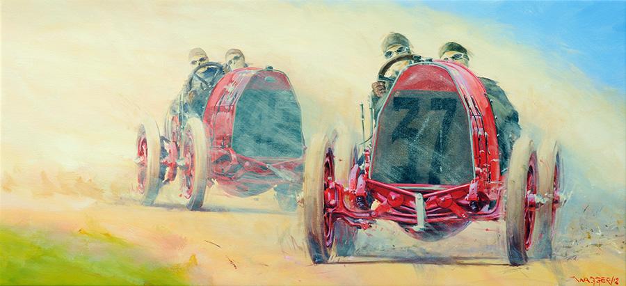 Iron Horses - Acryl auf Leinwand/Acrylic on canvas - Größe/size 130/60cm - Preis auf Anfrage/Price upon request