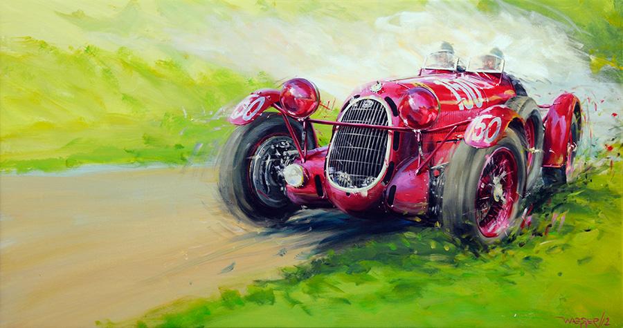 '37 offroad - Acryl auf Leinwand/Acrylic on canvas - Größe/size 150/80cm - Preis auf Anfrage/Price upon request