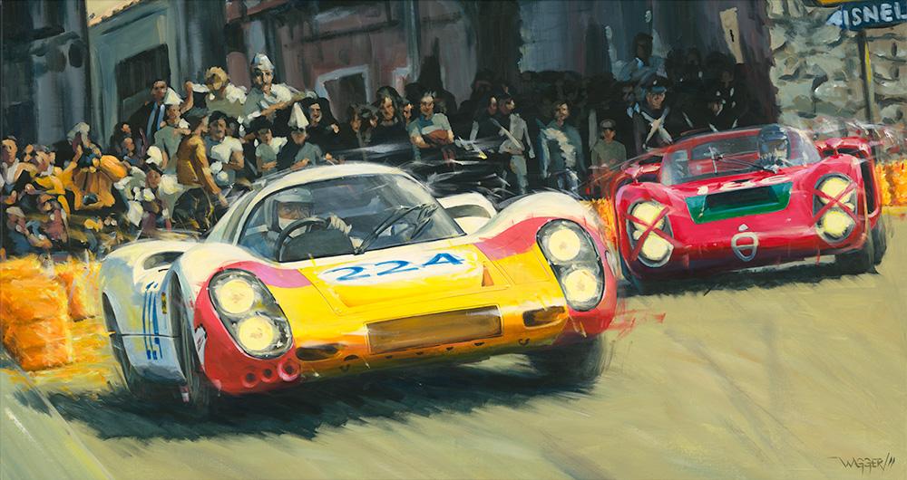 Targa Florio '68 - Acryl auf Leinwand/Acrylic on canvas - Größe/size 150/80cm - Preis auf Anfrage/Price upon request