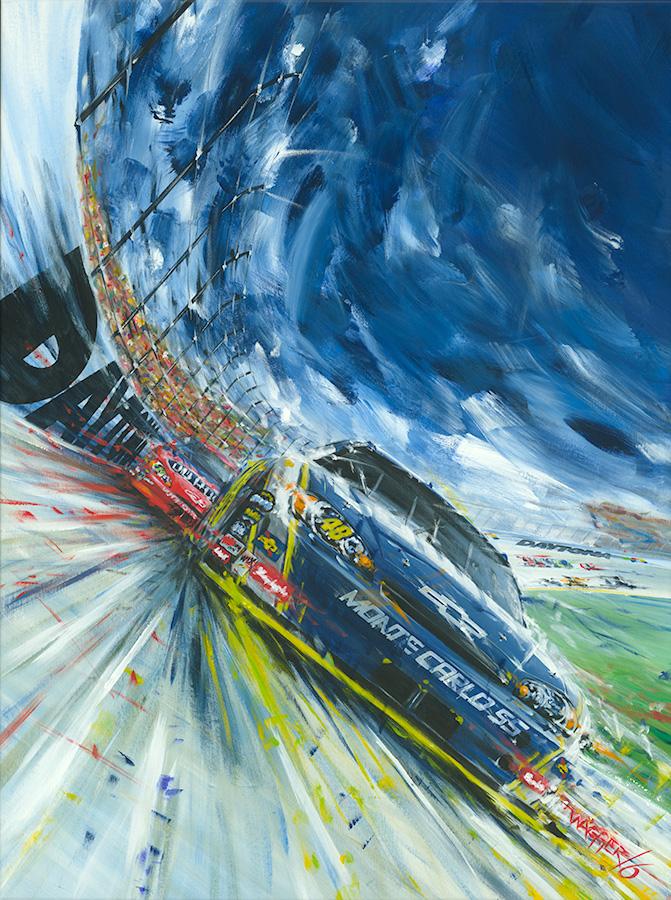 Daytona 500 - Acryl auf Leinwand/Acrylic on canvas - Größe/size 90/1300cm - Auftrag von Daytona International Speedway/commission by Daytona International Speedway