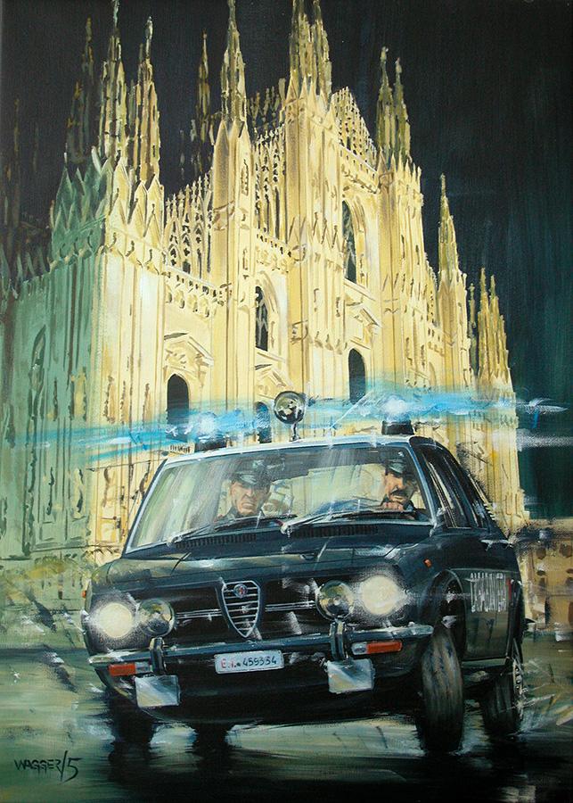 Alfetta - Acryl auf Leinwand/Acrylic on canvas - Größe/size 50/70cm - 1von15 Carabinieri Kalender 2006/1of15 Carabinieri Calendar 2006