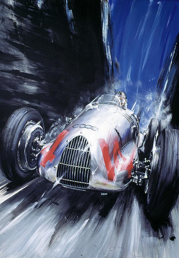 Auto Union - Acryl auf Leinwand/Acrylic on canvas - Größe/size 70/100cm - verkauft/sold