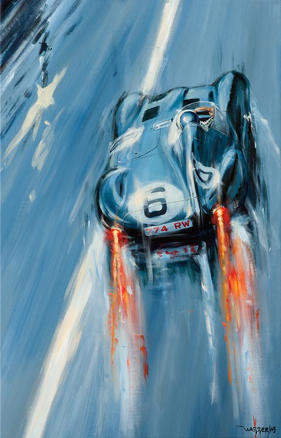 Indianapolis,Le Mans - Acryl auf Leinwand/Acrylic on canvas - Größe/size 90/140cm - verkauft/sold