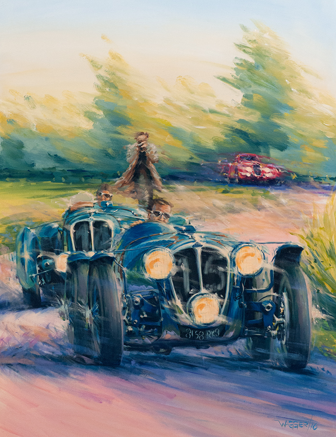 Force Bleue - Acryl auf Leinwand/Acrylic on canvas - Größe/size 100/130 cm - Preis auf Anfrage/Price upon request