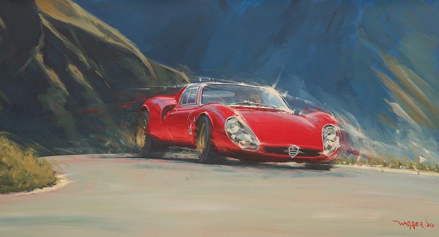 33 stradale- Acryl auf Leinwand/Acrylic on canvas - Größe/size 100/54 cm - Preis auf Anfrage/Price upon request