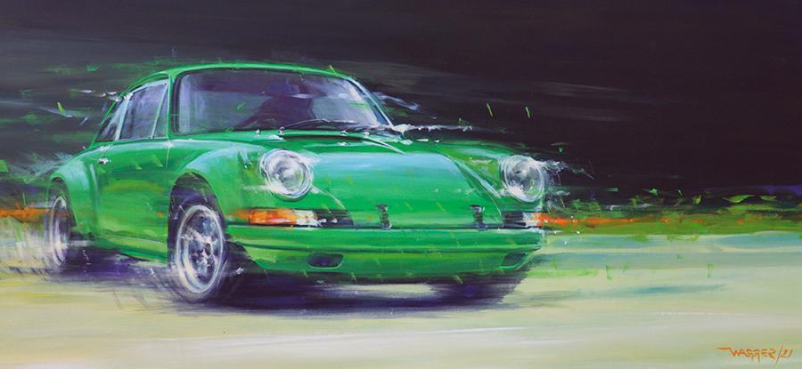 clean green mean - Acryl auf Leinwand/Acrylic on canvas - Größe/size 130/60 cm - Preis auf Anfrage/Price upon request